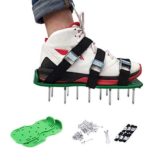 Rasenbelüfter Rasenlüfter Vertikutierer Rasen Vertikutierer Rasen Nagelschuhe für Dein Rasen oder Hof,Universalgröße passt Schuhe oder Stiefel für Rasen Hof, Rasen Sandalen, Rasen-Lüfter-Schuhe 1 Paar