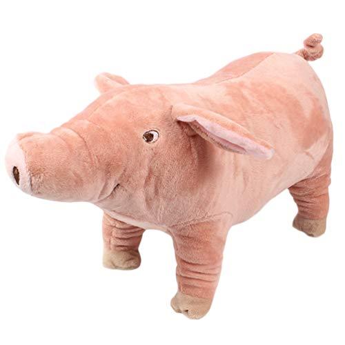 Balacoo Schwein Hundespielzeug - Interaktives Kuscheltier für Welpenhunde - Robustes Und Langlebiges Plüschtier für Großartige Haustiere Kauspielzeug für Ausgestopfte Hunde - 15 Zoll