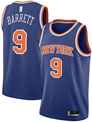 WHYYT Jerseys para Hombres - NBA New York Knicks # 9 R.J.Barrett Basketball Jersey, Chaleco sin Mangas Transpirable Bordado,XL(180~185CM/85~95KG)