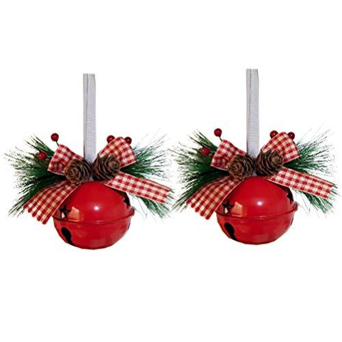 Amosfun Adorno de Campana de Navidad Colgante de Cascabel Colgante Campana de Hierro Pintado Ornamento de árbol de...
