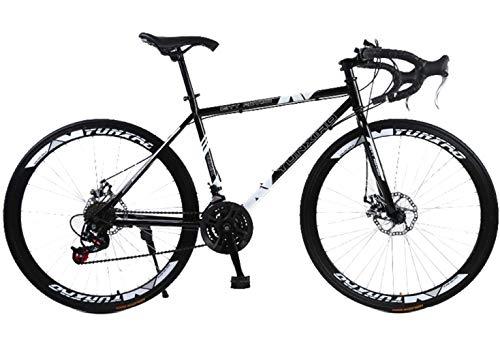 YANGSANJIN Mountainbike 21-Gang Stahlrahmen 26 Zoll 40 Speichenräder Dual Suspension Bike, Herren Damen Soft Tail Mountainbike