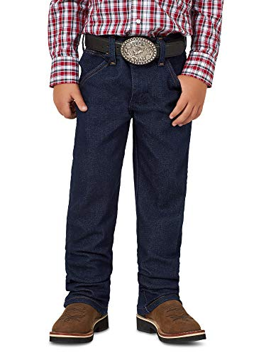 Wrangler Little Boys' Original ProRodeo Jeans, Prewashed Indigo Denim, 4 Slim