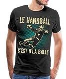 Le Handball C'est De La Balle T-Shirt Premium Homme, M, Noir