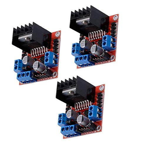 Canjerusof Schrittmotor-Treibermodul L298N DC Doppel-H-Brücke Controller Board kompatibel mit Arduino Raspberry Pi 3PCS