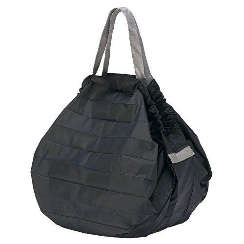 MARNA Wiederverwendbare Einkaufstasche, kompakt, faltbar, Größe M, Schwarz