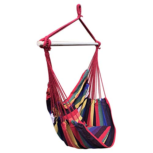 Kptoaz Hammock Chair Hanging Swing, Hanging Swing Seat with 2 Cushions, Comfort Hammock Chair for Indoor and Outdoor