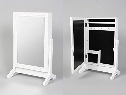 deetjen & meyer GmbH Stand Schmuckschrank mit Spiegelfront (Schmuckkasten zum Stellen)