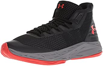 Under Armour Men's Jet Mid Basketball Shoe, Black (002)/Graphite, 14