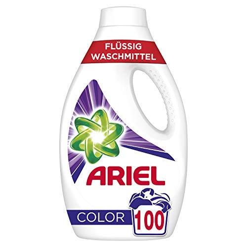 Ariel Waschmittel Flüssig, Flüssigwaschmittel Color, Color Waschmittel, Farbschutz, 100 Waschladungen (2 x 2.75 L)