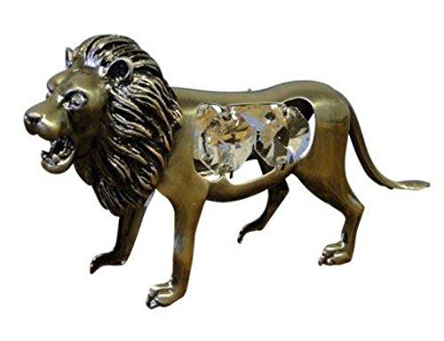 Cristal TENTACIONES 4109León acero cepillado 90x 60mm cristales de Swarovski Hotfix transferencia