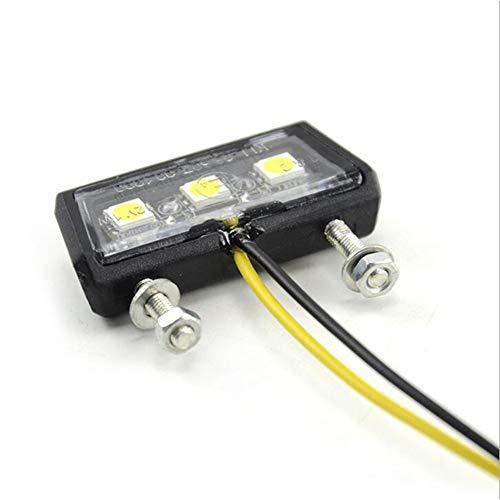 Queta Led Kennzeichenbeleuchtung Universal Motorrad Nummernschildbeleuchtung 12v Mini Micro Kennzeichenbeleuchtung Nummernschild Beleuchtung Motorrad