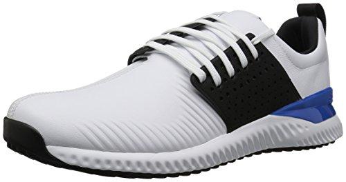 adidas Men#039s Adicross Bounce Golf Shoe White/Black/Blue 115 M US