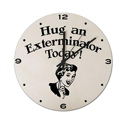 Pealrich Reloj de pared silencioso, sin garrapatas, 25 x 25 cm, abrazar...
