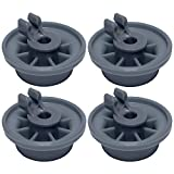 165314 (4-Pack) Lower Dishrack Wheel by PartsBroz - Compatible with Bosch Dishwashers - Replaces 00165314, AP2802428, 00420198, 420198, 423232, AH3439123, EA3439123, PS3439123, PS8697067