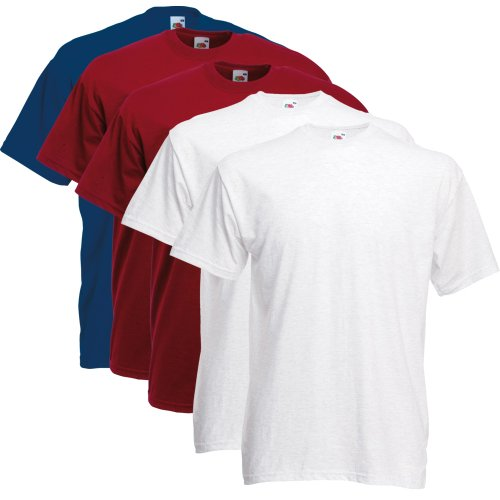 Fruit of the Loom T-Shirts 5er Pack XXXL,Farbset VIII