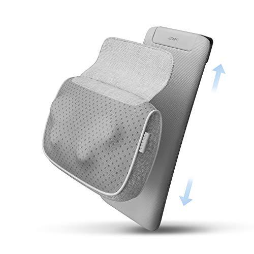 Naipo Shiatsu Nacken- und Rückenmassagegerät Massagekissen - Knetmassage mit Hitze, Deep Tissue Stuhl Massagegeräte für den unteren Rücken, Schultern, Wade, Körper