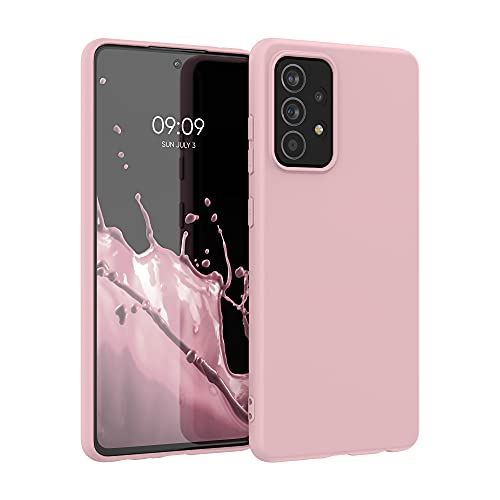 kwmobile Custodia Compatibile con Samsung Galaxy A52 / A52 5G / A52s 5G - Cover in Silicone TPU - Back Case per Smartphone - Protezione Gommata Pesca