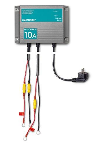 Mastervolt EasyCharge 10A a 12V 5A a 24V- Cargador de baterías, Gris