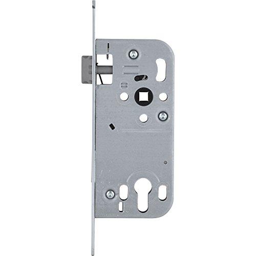 SECOTEC Tür-Einsteck-Schloss Profil-Zylinder mit Wechselfunktion Dormaß 50 mm, rund, silberfärbig, 1 Stück
