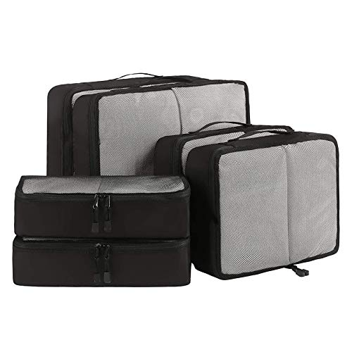 YuuHeeER Packing Cubes Travel Luggage Organizers Suitcase Organizer 2L 2M 2Slim 6 Set Set 6 Net