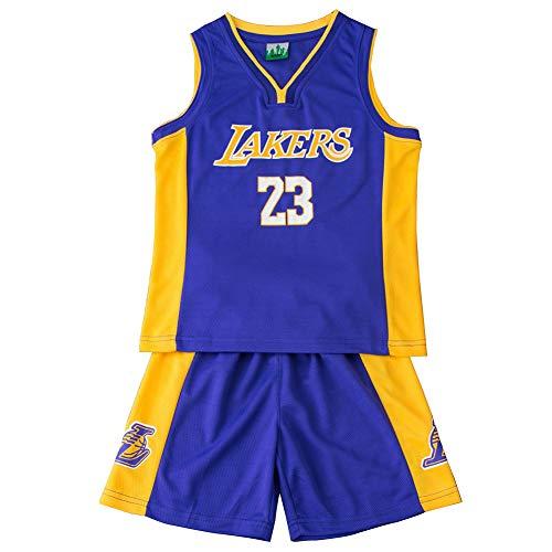 FDRYA - Camiseta de baloncesto para niño Lakers 23 James/Cavs # 23 James/Kyrie Irving # 11 Boston Celtics, secado rápido, uniforme de entrenamiento, Estilo, color azul, tamaño M(130