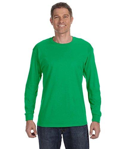 Jerzees Men's Heavyweight Blend 50/50 Long Sleeve T-Shirt (Kelly, Large)