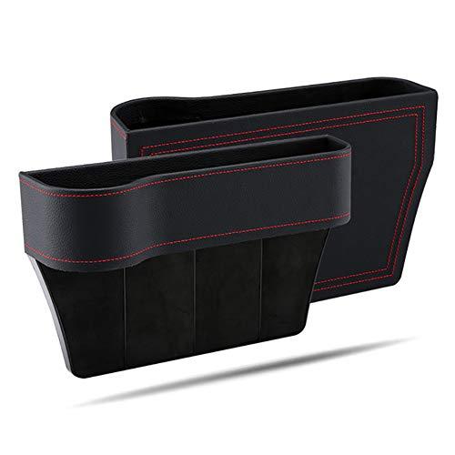Cffs Auto Gesteppte Aufbewahrungsbox, Auto Sitz Seitentasche Organizer Gesteppte Aufbewahrungsbox Auto Innenraum Sitz Lücke Leck Auto Innenraum Zubehör über 26x16x5,5 cm (schwarz)