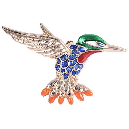 N-K Pulabo - Broche multicolor en tono dorado para ropa de pájaros, excelente calidad, hermoso y hermoso