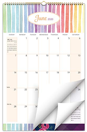 """2020-2021 Wall Calendar - 11""""x17"""" - Colorful, Vibrant, Fun and Fashionable Monthly Calendar (Runs from July 2020 Through December 2021)"""