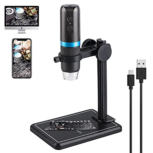 Digital Microscope 50X-1000X Magnification Handheld USB HD 1080P Inspection Endoscope Camera Magnifier 8 LEDs Compatible with iPhone, iPad, Samsung Galaxy, Huawei, Mac&Windows Computer