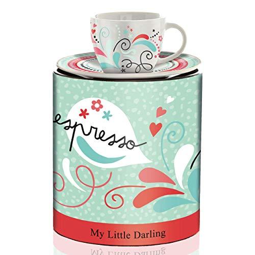 RITZENHOFF My Little Darling Espressotasse von Claudia Schultes (Ciao), aus Porzellan, 80 ml, mit Untertasse
