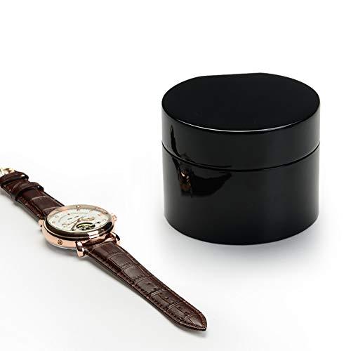 GRF Fanxi Uhrenbox Holzfarbe Basteluhr Geschenkbox Rundes Samtkissen Glanzfarbe