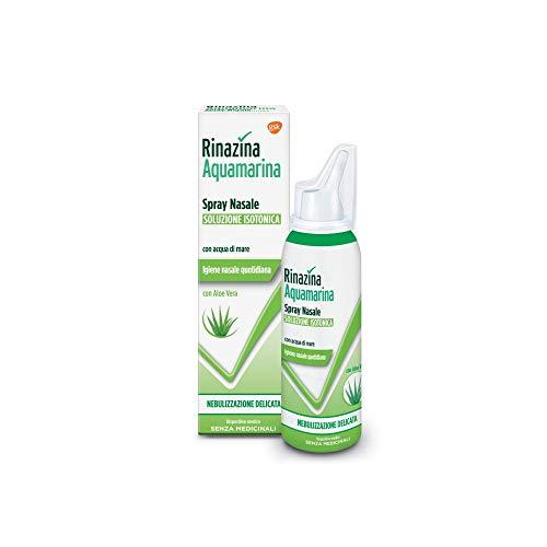 Rinazina Aquamarina Isotonica Aloe Spray Nebulizzazione Intensa, Multicolore, 100 Millilitri