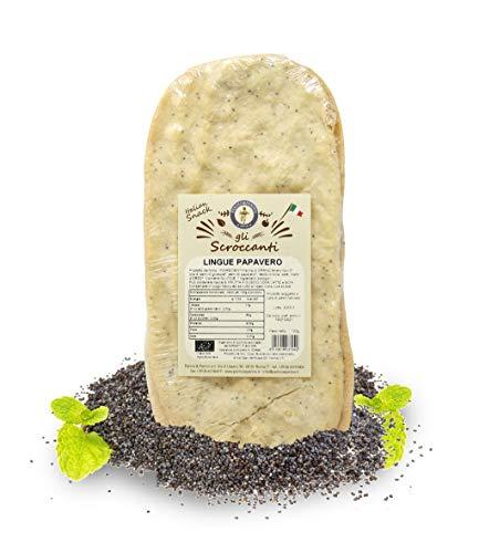 Carioni Food & Health Rosquilletas con Semillas de Amapola, Snack Salado, Schiacciata - 100 gr (Paquete de 10 Piezas)