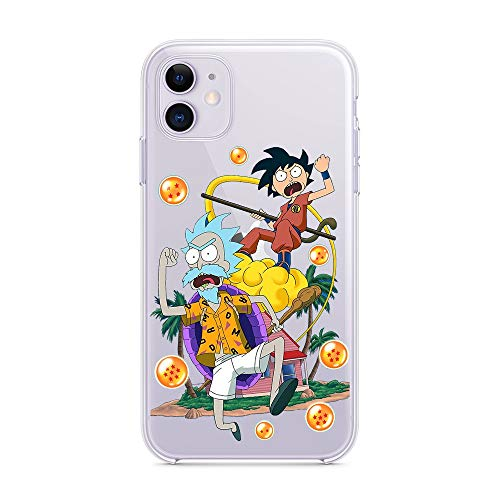 HNZZ Tmrtcgy Dibujos Animados Divertido Rick Morty TPU TPU Funda para iPhone 11 12pro MAX XR XS MAX 7 8 Plus CUBIERTE DE SILICÓN Transparente CQUAL (Color : 159, Size : Iphone11 Pro MAX)