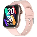 Smart Watch for Android Phones, CUBOT Fitness Tracker with Heart Rate Monitor Smart Watch, 1.7 Inch Full Touch Screen Watch IP68 Waterproof Smartwatch Sleep Monitor Smart Watch for Women Men, Gold