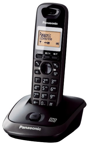Panasonic KX-TG2511JTM Telefono Cordless Digitale (DECT) Quality Premium, Segreteria Telefonica, Schermo Monocromatico Retroilluminato, Vivavoce, Modalità Eco, Antracite Metal