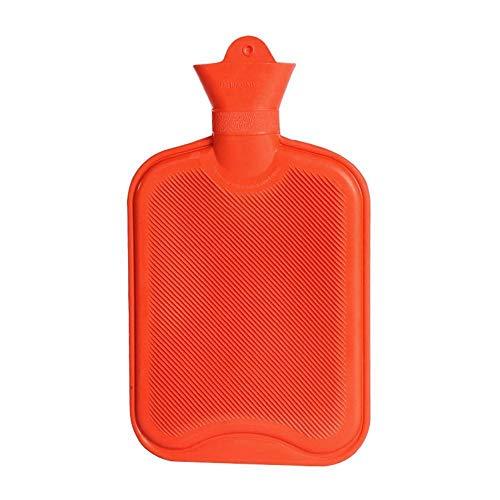 Lpfkkk 1800ml Chaud en Caoutchouc épais Main Portable Bouteilles d'eau Chaude l'hiver au Chaud Bouteille d'eau Filles de Poche Pieds Main Eau Chaude Sac-Rose (Color : Red)