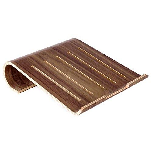 System-S Echtholz Universal Notebookständer Laptop Netbook Ständer Halter Holz Ergonomisch in braun für MacBook MacBook Air iPad pro