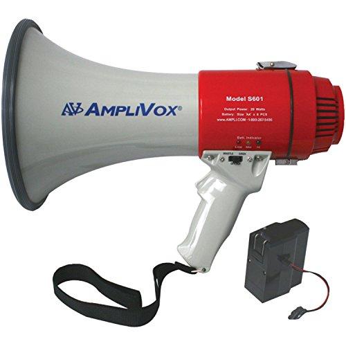 Amplivox SB601R Mity-Meg 15-Watt Megaphone with Rechargeable Battery