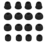 Zotech 8 Pair (16pcs) Replacement Earbud Tips for Beats Powerbeats3 Wireless Stereo Headphones - Small, Medium, Large, and Double Flange (Black)