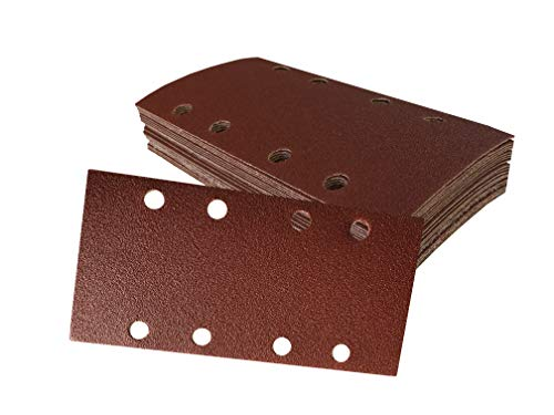 Schleifbogen-Set 40 Stück, 93 x 190 mm je 10 x Korn 60/80/120/240 selbsthaftend für Schwingschleifer, Schleifpapier. Schleifbögen