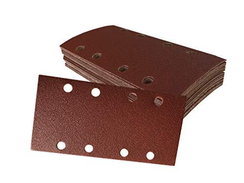 Preisvergleich Produktbild Schleifbogen-Set 40 Stück 93 x 190 mm je 10 x Korn 60 / 80 / 120 / 240 selbsthaftend für Schwingschleifer Schleifpapier Schleifbögen
