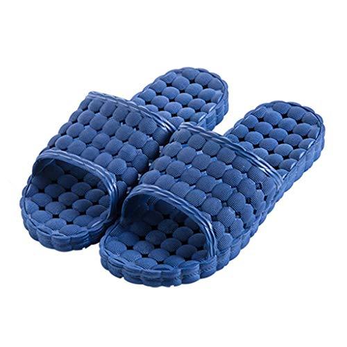 Zapatillas para Ducha Hogar Verano Sandalias de interior Zapatillas Ducha de baño Zapatillas antideslizantes de fondo suave con orificios de fuga de agua Unisex Zapatillas de Playa y Piscina
