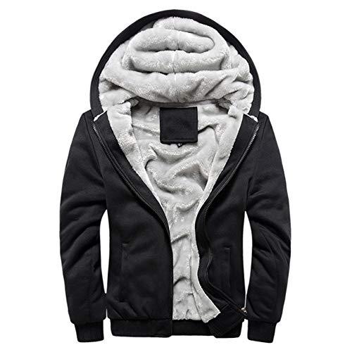 Global Blank Men's Lightweight Windbreaker Winter Jacket Water Resistant Shell Black