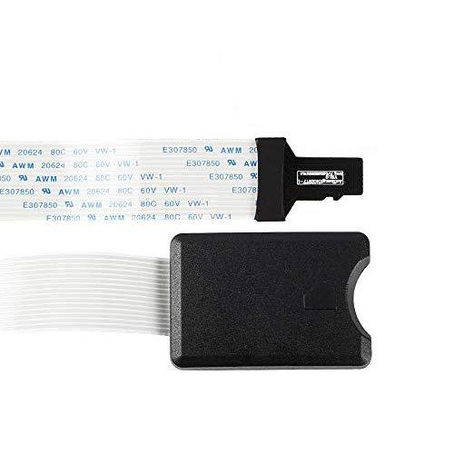 BCZAMD Micro SD/TF auf SD-Karte Verlängerungskabel Adapter Flexibler Extender SD/RS-MMC/SDHC/MMC für Drucker Monoprice Select Mini/Anet A8 CR-10 Ender 3 /Raspberry Pi/GPS/TV, 48 CM /18,89 Zoll