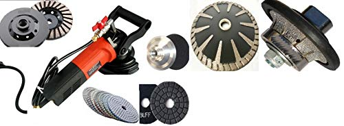 Wet Granite Concrete Sander Polisher 1/2' Roundover/Half Bullnose Router Profiler Diamond polishing pad buff grinding cup convex concave blade marble travertine