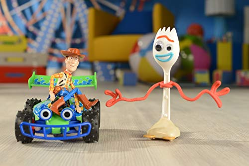 Dickie Toys- Toy Story 4 Radiocomando Buggy with Woody, 1:24, 20 cm, Colore Verde, 201134005