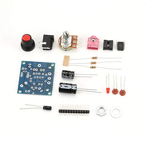 LM386 Super Mini 3V-12V Combinaison Conseil Conseil Kit Kit de bricolage électronique Module d amplification audio Basse consommation - Bleu