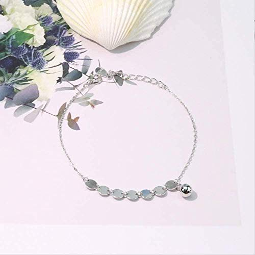 WSBDZYR Co.,ltd Necklace Fashion Simple Bracelet Women's Ring S Ring Small Round Shape Hand Bracelet